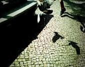 7'x5' original photo print lomography portugal calçada cobbles