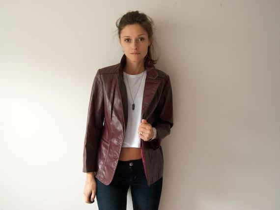 Leather Blazer - Vintage 1970s - General Leather New York