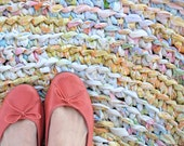 RESERVED//Bright & Cheery Colorful Round Rag Rug