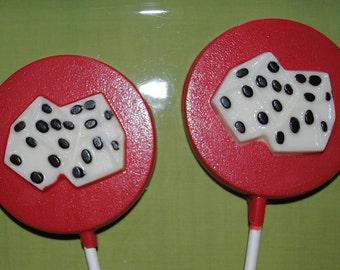 Chocolate Dice Lollipops