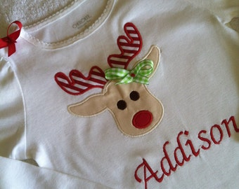 Adorable Christmas Rudolph rain deer shirt/onesie