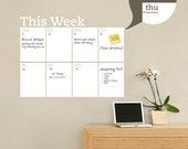 Dry Erase Weekly Calendar - Dry Erase Decal- by Simple Shapes