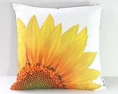 HALF OFF Sample SALE Pillow Cover: Sunflower (Left-Side Print)