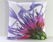 HALF OFF Sample SALE Garden Flowers Pillow Cover: Mountain Cornflower (Right-Side Print)