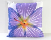 Garden Flowers Pillow Cover: Johnson's Blue Geranium