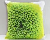 Garden Flowers Pillow Cover: Green Mum