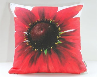 Garden Flowers Pillow Cover: Cherry Brandy Rudbeckia