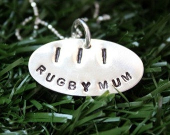 Sterling Silver Rugby Mum Necklace