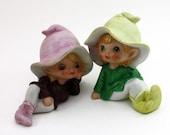 Vintage, Homco Pixies/Elves Set, Boy and Girl