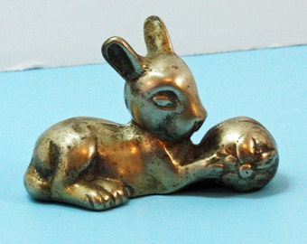 Vintage Brass Bunny Rabbit, Easter Bunny