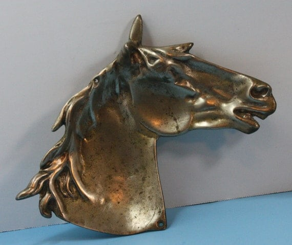 Vintage Brass Horse Head, Catch All, Ash Tray