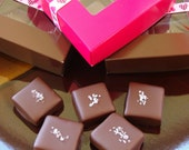 Box of Chocolate Covered Caramels with Sea Salt