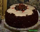 Vegan White Cream cheese chocolate cake, love, animal free cruelty,no eggs,no dairy, new year promotion.