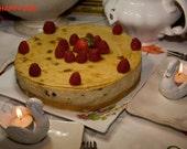 Vegan Sunshine Vanilla chesecake with raisins , love,natural,healthy ingredients,birthday,wedding.