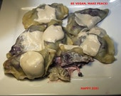 Vegan Blueberry Pierogies,Natural and Healthy ingredients,Love and compassion,Dinner,Lunch.