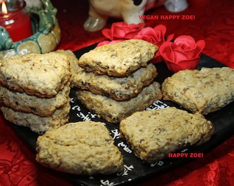 Vegan Date Walnut Scones,10 scones animal free cruelty,no eggs,no dairy, vegan suprise.