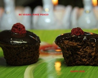 Vegan Gluten Free Chocolate madness mini baby cakes 12 pieces.