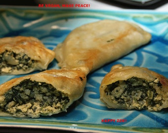 Vegan Spinach Cheese pierogies, love,natural,healthy ingredients.