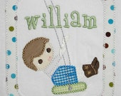 INSTANT DOWNLOAD Little Boys Summer Swing Machine Embroidery Applique Design