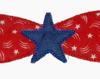 INSTANT DOWNLOAD Star Bowtie Applique Design