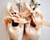 Ballet Shoes (8x8 Original Fine Art Print)