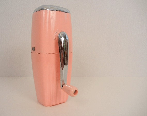 Vintage Ice Crusher / 1950s Pink Wall Mount Ice O Mat