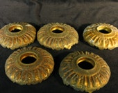 Vintage Lighting Set of Five Bulb Collars for Ceiling Fixture or Sconce