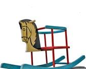 West German antique rocking horse