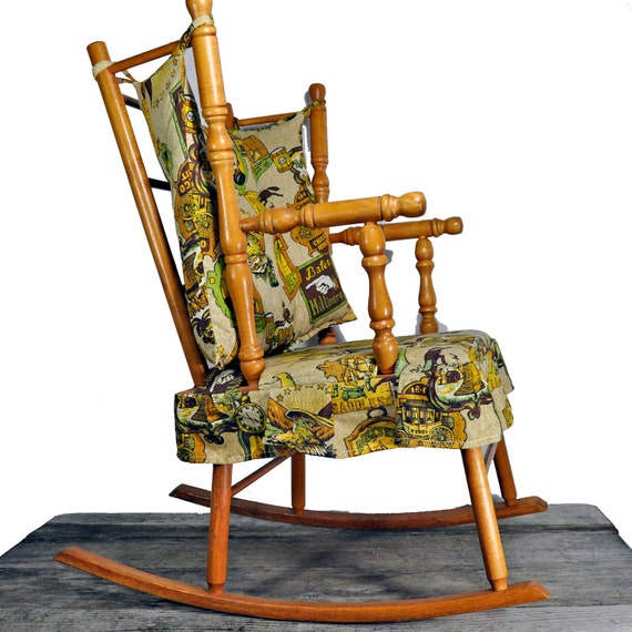 Cute rocking chair by N.D. Cass Co. of Athol Massachusetts