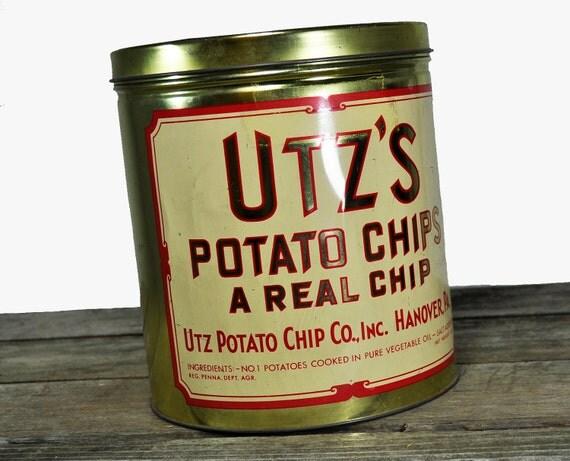chip tins potato vintage