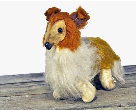 Vintage Knickerbocker Collie K.T. Toys Stuffed Animal