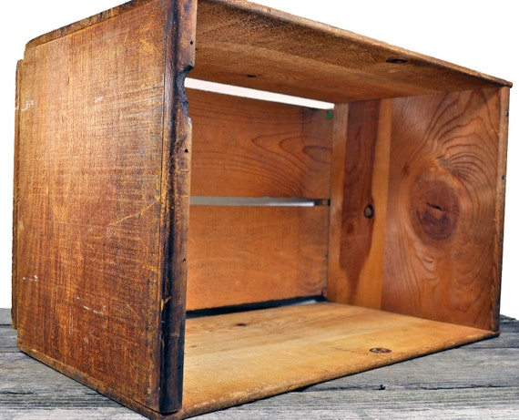Solid Vintage Rustic Primitive Wooden Box