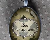 Pet iD tag oval CAT ID small breed Dog Tag Cat Tag by California Kitties Spades ID OTE8744
