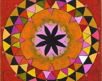Art Print Giglee abstract print Mandala print wall art mandala art contemporary art design MAR-9