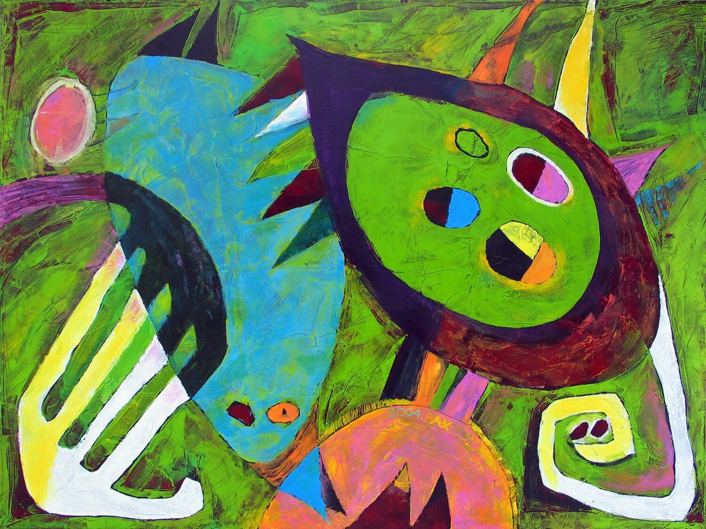 Wall Art Greenpeace : Abstract art original oil painting contemporary modern