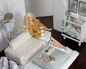 1:6 scale fashion doll diorama custom made sofa chair chest table and accessory furniture room
