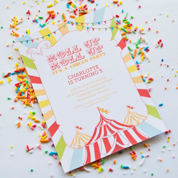 Rainbow Circus Party Printables - Complete Set