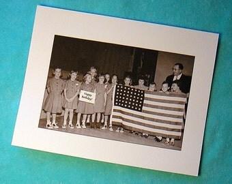 BIRTHDAY CARD 1950s Humorous Mid Century/Retro/Vintage Photo