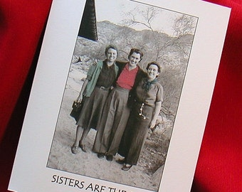 BIRTHDAY 1940s Sister Card With Vintage Photo