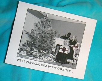Christmas Cards Set of 6 Humorous Vintage Photo