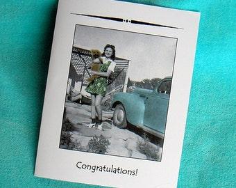 New DOG PET 1940s Congratulations Card