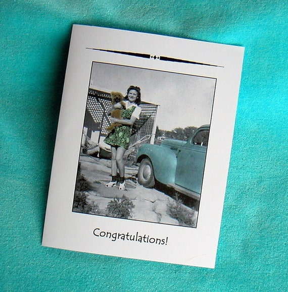 New DOG PET 1940s Congratulations Card