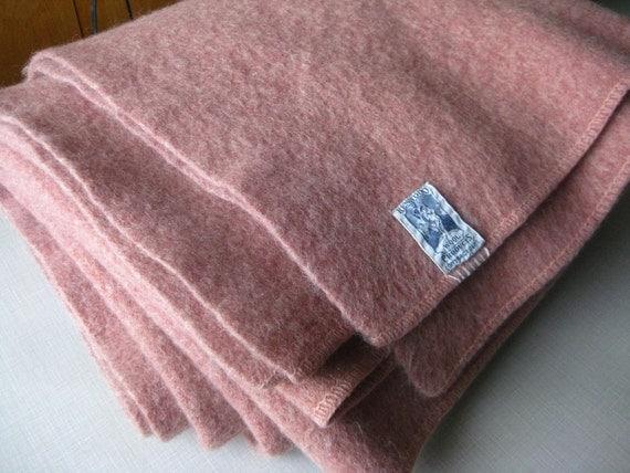 Blanket Vintage Wool Kenwood Soft Heather Pink
