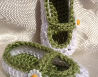 Baby Girl Crochet Maryjane Shoes