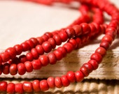 Indonesian Glass Beads - Red (50 pieces)