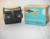 Vintage Bakelite Sayer's View-master 3-Dimension Lighted Model F Viewer Works Viewmaster with box