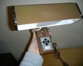 Mid Century Modern Brown Headboard Reading Light Lamp Industrial Clamp On