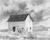 Old Threshing Barn in a Northern Mountain Meadow