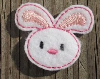 Bunny Machine Embroidered Felt Embellishment