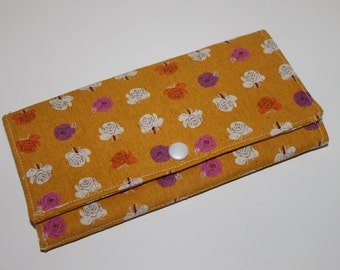 Contemporary Flower Print Wallet